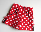 Shorts Red and White Polka Dots Minnie Mouse Inspired Shorts   Available sizes: 18 months  - 12  Handcrafted by Valeriya