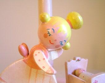 Vintage Irmi Nursery Lamp - Mama and Baby  - Vintage Irmi - Vintage Nursery - Vintage Baby Lamp - Midcentury Nursery
