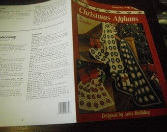 Crochet Pattern Leaflet Christmas Afghans Leisure Arts 775 Anne Halliday Crocheting Patterns