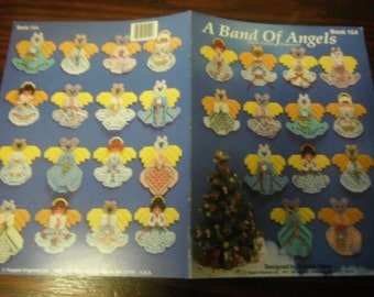 Christmas Plastic Canvas Patterns Band of Angels Ornaments Kount on Kappie Book 154 Plastic Canvas Leaflet