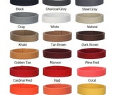 50 Yards 1.25 inch  Heavy Cotton Webbing   Your Choice of Colors   MIX AND MATCH