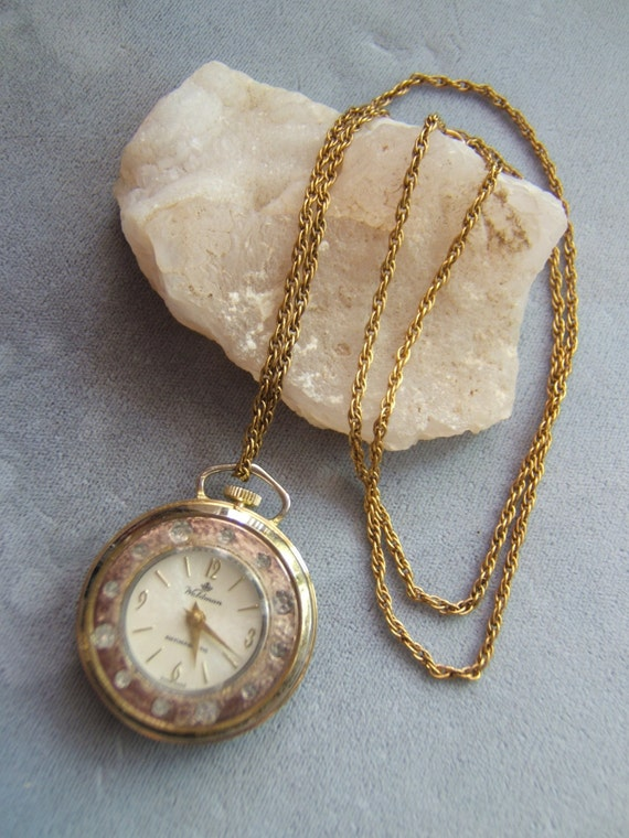 Ladies Woldman Swiss Made Pendant Watch with Chain