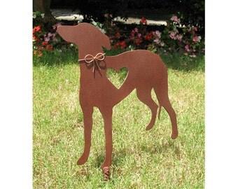 Greyhound Dog Metal Garden Stake - Metal Yard Art - Metal Garden Art - Pet Memorial - Design 2