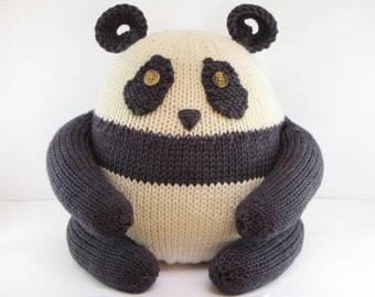 Mushu the Panda Pattern, knitting, amigurumi, waldorf