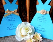 Will you be my Bridesmaid Halter Dress Card
