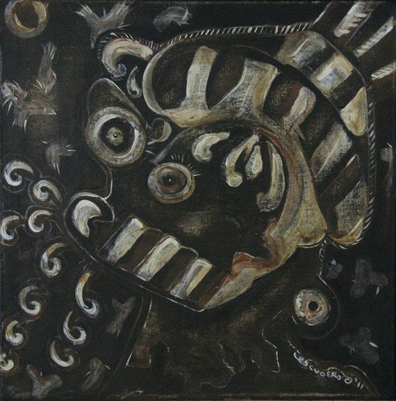 "Hot Air - Pharisee - 12""x12"" ORIGINAL painting, canvas art, political art, Christian art, religious art, government politics, abstract"