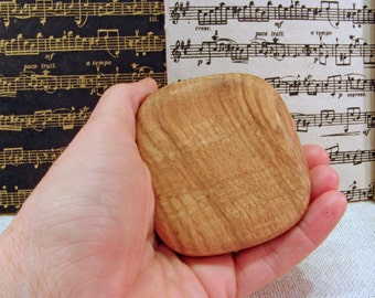Music Rattle, Black Oak Wood, rhythm instrument, eco friendly, musician, music shaker, drum circle, desk toy, stocking stuffer