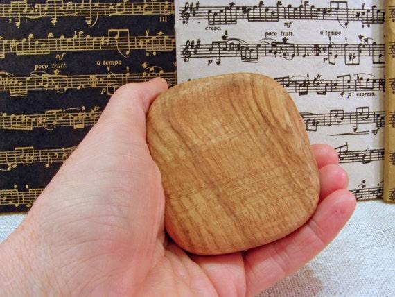 Music Rattle, Black Oak Wood, rhythm instrument, eco friendly gift, musician gift, music shaker, drum circle, desk toy, stocking stuffer