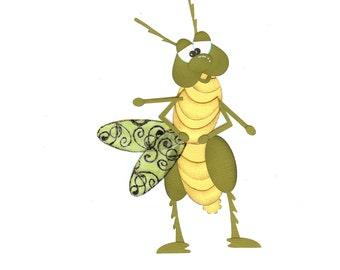 Digital Download, Paper piecing pattern, Grasshopper Pattern