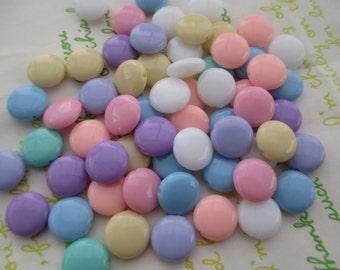 NEW item Candy Pastel color mix  Acrylic Beads 30pcs Size 12mm x 5mm Random mix