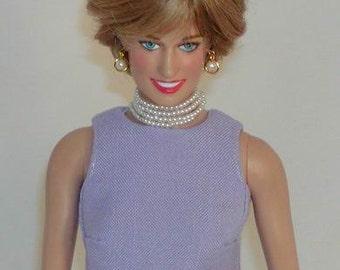 Lilac Versace Shift - Princess Diana Replica for Franklin Mint Doll