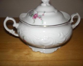 Warvel covered sugar bowl