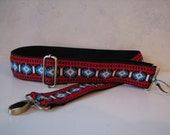 Custom Bag Strap,  Vintage Trim, Red White and Blue, 2 Inch Width