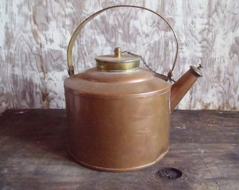 Vintage Small Copper and Brass Tea Pot