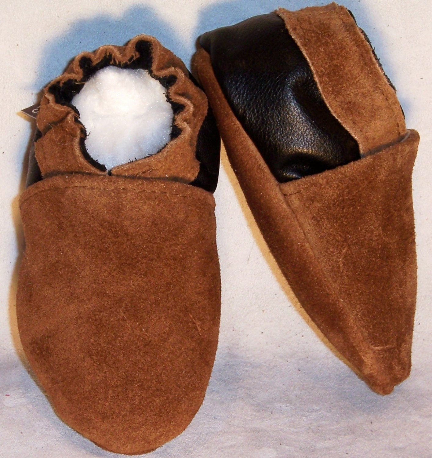 moxies soft soled leather baby shoes 2 tone brown suede choose