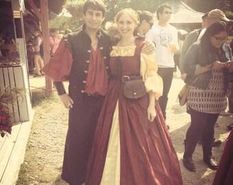 Full Satin Skirt  SCA  Renaissance Steampunk Pirate Victorian