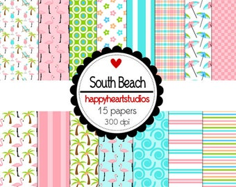 Digital Scrapbook SouthBeach-INSTANT DOWNLOAD