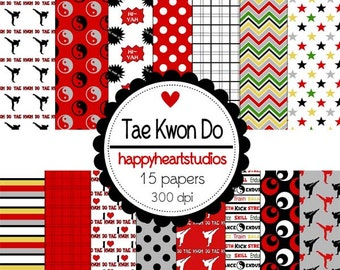 Digital Scrapbooking TaeKwonDo-INSTANT DOWNLOAD
