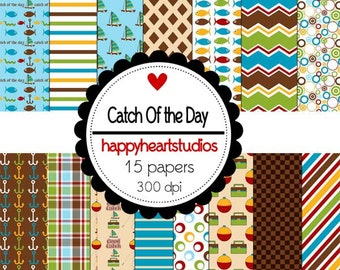 Digital Scrapbook CatchOfTheDay-INSTANT DOWNLOAD