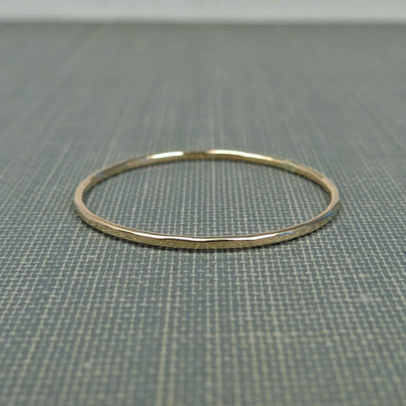 Thin Gold Stackable Ring - 1 Ring - Super Slim - 14K Yellow Gold Filled - Simple Modern Minimal Rings