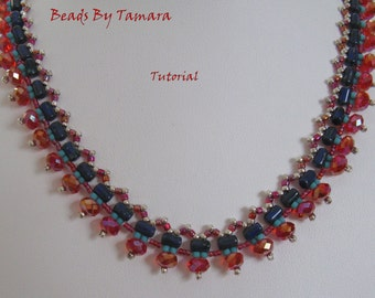 Aerials Necklace PDF Tutorial, uses Rulla Beads