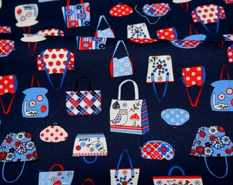 Japanese fabric Hand Bags Print 50 cm by 108 cm or 19.6 by 42 inch nc22