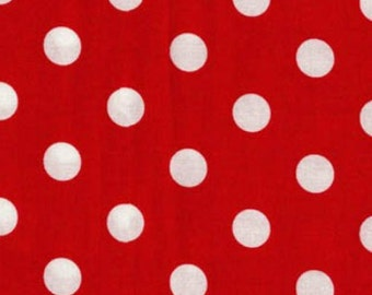Fat Quarter - That's It Minnie Red White Dot Fabric By Michael Miller CX2489-MINN-D
