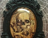 Cool Vintage Skull Picture with a Baroque setting Necklace  40x30