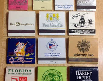 Vintage Florida Matchbook Set -13 total