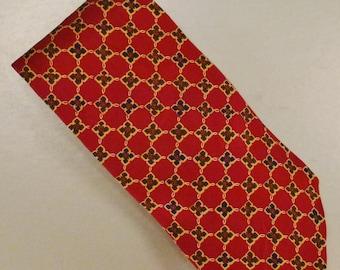 Designer Neck TIE Designer Ralph LAUREN Silk handmade 1980s  Dead Stock  58 x 3plus in