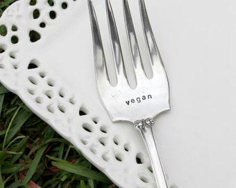 Vintage Silverplate Serving Fork - Vegan