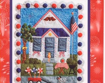 Clearance PATTERN PATRIOT'S CORNER Patriotic Quilt Wall Hanging