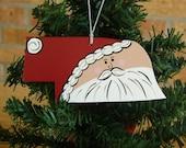 Nebraska Santa Ornament