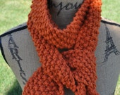 Chunky Orange Scarf - Womens Knit Winter Scarf - Mens Warm Scarf - Ladies Extra Long Neckwarmer - Teen Scarf in Pumpkin Orange
