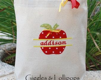 Personalized canvas tote School tote bag pre school kindergarten Teacher tote