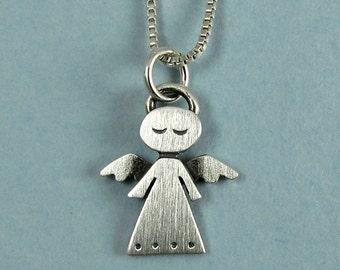 Tiny angel necklace / pendant