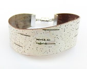 Birch bark cuff bracelet, The Small Curve
