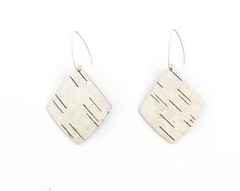 Large birch bark earrings, Angles