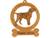 WP Griffon Wood Dog Ornament 084245 Personalized With Your Dog's Name