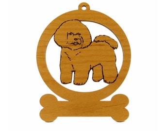 Bichon Frise Ornament 081740 Personalized With Your Dog's Name - Free Shipping