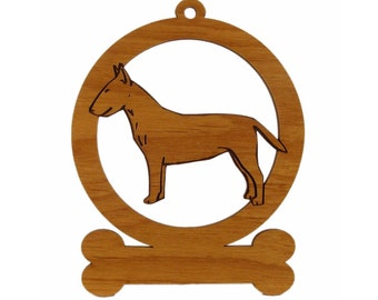 Bull Terrier Ornament 082036 Personalized With Your Dog's Name