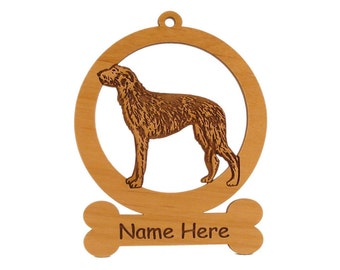 Scottish Deerhound Dog Wood Ornament 083902 Personalized With Your Dog's Name