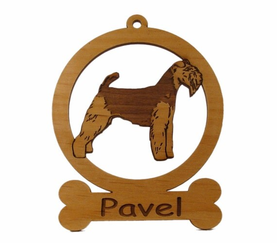 Welsh Terrier Wood Ornament 084209 Personalized With Your Dog's Name