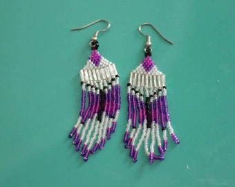 Dangle Purple Butterfly Earrings