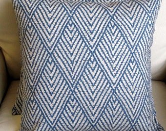 26x26 EUROS PAIR Ikat sapphire Blue pillow covers