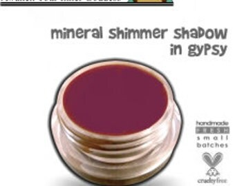 Organic Mineral Makeup Cream Eye Shadow Pot GYPSY Acne Safe Makeup Non-Comedogenic with organic Argan Oil