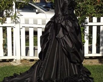 Gothic Mina Victorian Bustle Gown Wedding Custom Gown XS - XL
