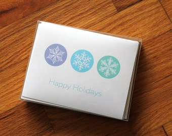 Snowflake holiday cards with envelopes (pack of 10)