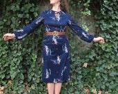 20 DOLLAR SALE I Magnin 70s Butterfly Dress