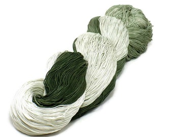 150 Yards Hand Dyed Thread Cotton Crochet Thread Size 10 3 Ply Specialty Thread Olive Green Ombre Thread Hand Painted Fine Cotton Yarn